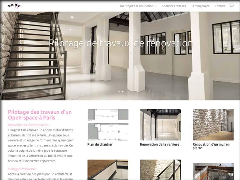 Création de site internet • Drop travaux
